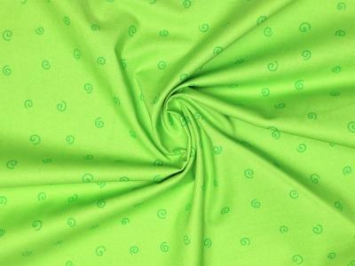 Baumwollstoff Kringel grün Westfalenstoffe 100 Baumwolle