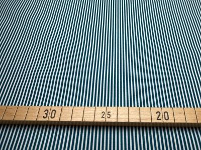 Stoff Streifen weiß/petrol 100 Baumwolle Patchwork