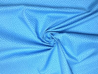 Baumwollstoff Pünktchen blau Westfalenstoffe 100 Baumwolle