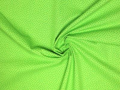 Baumwollstoff Pünktchen dunkelgrün auf hellgrün Westfalenstoffe
