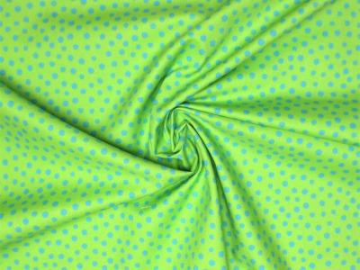 Baumwollstoff Punkte blau auf hellgrün Westfalenstoffe