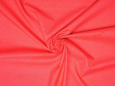 Baumwollstoff Pünktchen rot-rosa Westfalenstoffe 100 Baumwolle