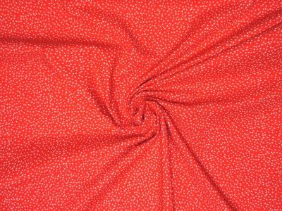 Baumwollstoff Pünktchen rot-weiß Westfalenstoffe 100 Baumwolle
