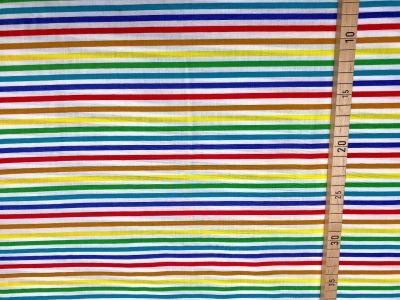 Stoff Regenbogen Ware bunte Ringel /Streifen
