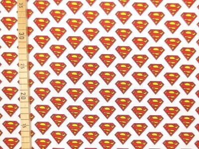 Supermann Stoff - 100 Baumwolle -