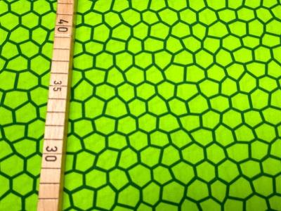 Stoff unregelmäßige Waben grün 100 Baumwolle