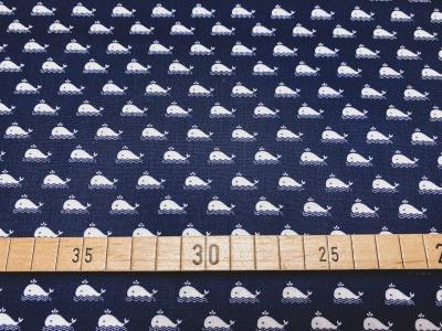 Stoff Wal dunkelblau 100 Baumwolle Patchwork