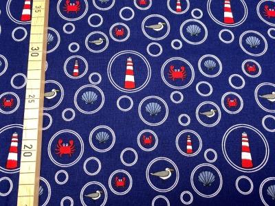Stoff Leuchtturm 100 Baumwolle Patchwork maritim