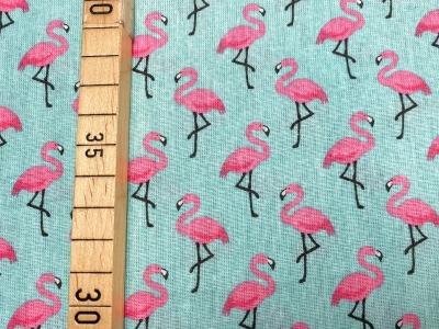 Stoff Flamingo türkis 100 Baumwolle Patchwork