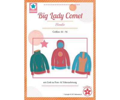 Papierschnittmuster Big Lady Comet Hoodie Mia