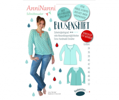 Blusenshirt Jersey und Webware von AnniNanni