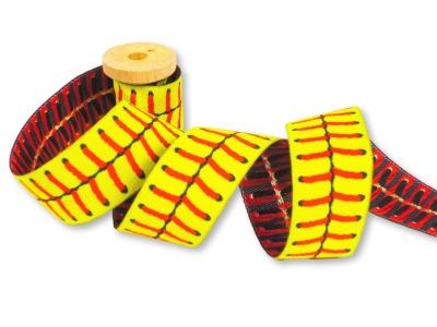Softball Webband Softballnaht gelb mit roter