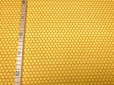 Stoff Bienenwaben gelb 100 Baumwolle Patchwork