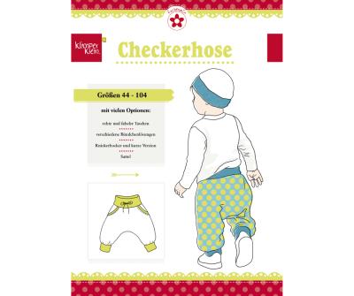 Papierschnittmuster Checkerhose