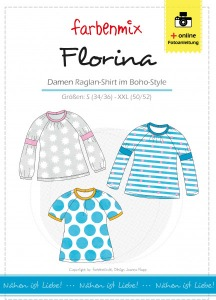 Florina Papierschnittmuster Damen Raglan Shirt im