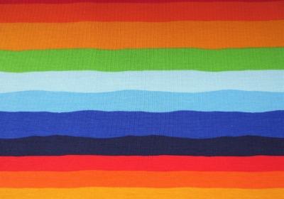 French Terry Regenbogen - unregelmäßige Streifen