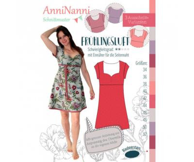 Frühlingsluft Kleid von AnniNanni Papierschnittmuster Blaubeerstern