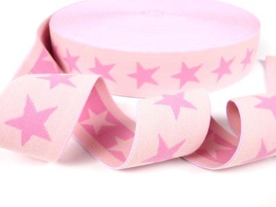 Gummiband Sterne - hellrosa-rosa - 4