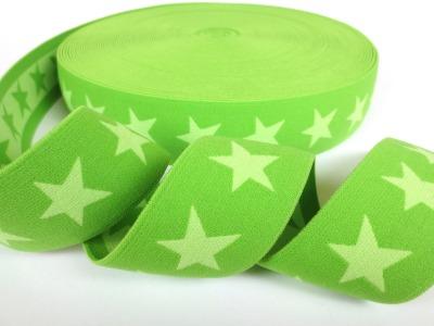 Gummiband Sterne - dunkellime-lime - 4