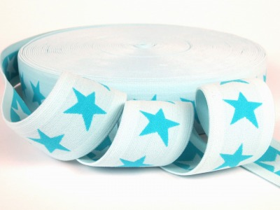 Gummiband Sterne - mint-dunkelmint - 4