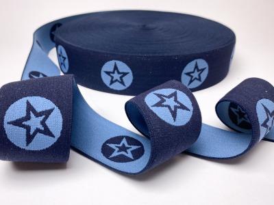 Gummiband Stern - nachtblau/jeansblau - 4
