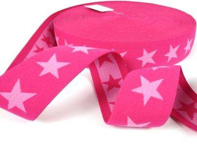 Gummiband Sterne - dunkelpink-rosa - 4