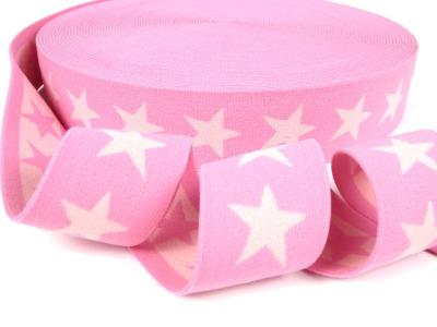 Gummiband Sterne - rosa-hellrosa - 4