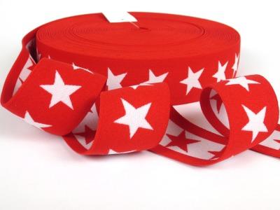 Gummiband Sterne - rot-weiß - 4
