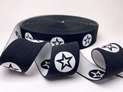 Gummiband Stern - schwarz/weiß - 4