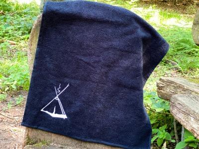 Handtuch Kohte bestickt cm schwarz mit