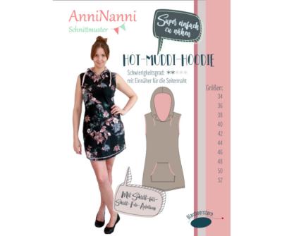 Hot-Muddi-Hoodie von AnniNanni - Papierschnittmuster -