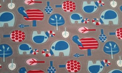 Jersey Elefanten Blaubeerstern Bäume grau Jersey
