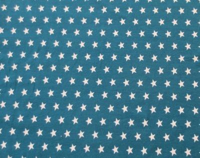 Jersey Sterne - petrol/weiß