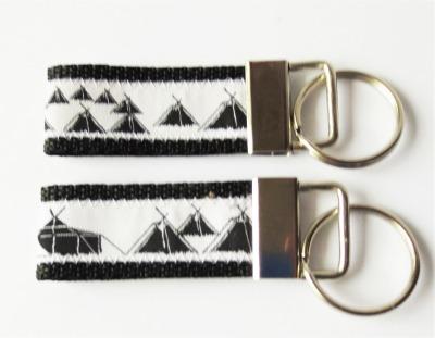 Pfadfinder Schlüsselanhänger kurz in schwarz Webband