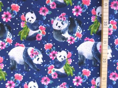 Jersey Panda Pandamädchen mit Blumen Pandabär
