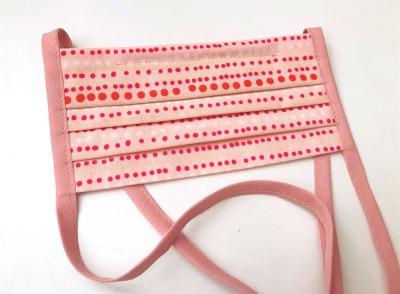 Behelfs-Gesichtsmaske rosa Pünktchen -100 Baumwolle mit