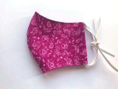 Behelfs-Maske Noten -100 Baumwolle mit Gummis