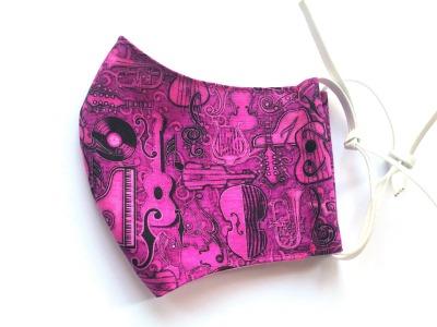 Behelfs-Maske Instrumente -100 Baumwolle mit Gummis