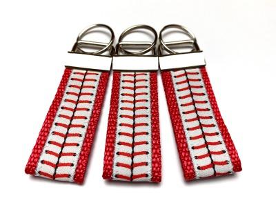 Baseball Schlüsselanhänger - rot - kurz