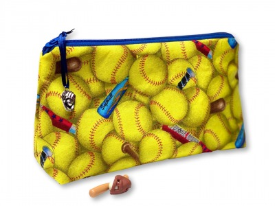 Softball Kosmetiktasche - Mäppchen - Softballmuster
