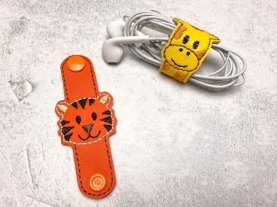 Kabelhalter Tiger - Kunstleder