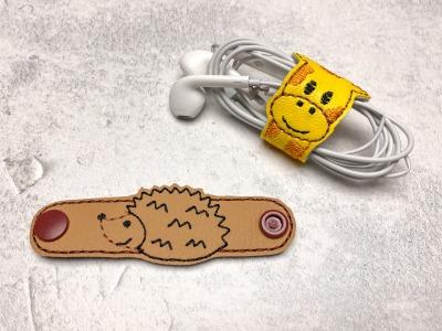 Kabelhalter Igel - Kunstleder