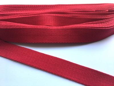Gurtband - 30 mm - Tomatenrot