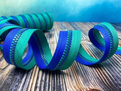 Endlos-Reißverschluss blau-grün - Eigenproduktion - 20