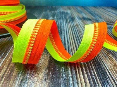 Endlos-Reißverschluss neongelb/-orange - Eigenproduktion - 20