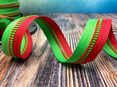 Endlos-Reißverschluss rot-grün - Eigenproduktion - 20