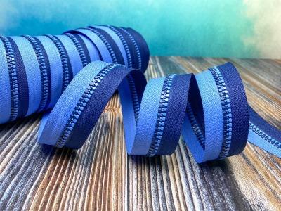 Endlos Reißverschluss dunkelblau/jeansblau in cm Schritten