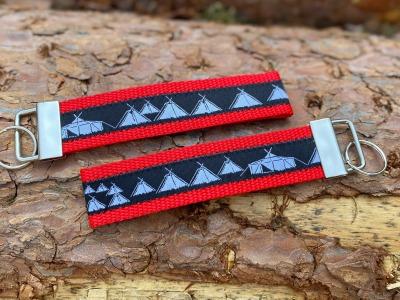 Pfadfinder Schlüsselband in rot Webband schwarz