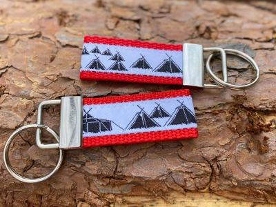 Pfadfinder Schlüsselanhänger kurz in rot Webband