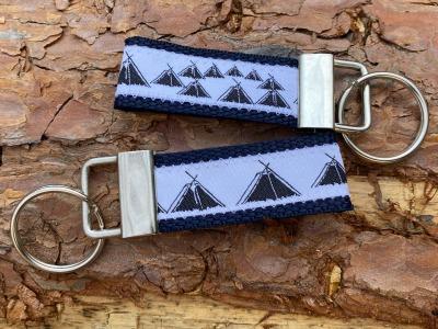 Pfadfinder Schlüsselanhänger kurz in marineblau Webband